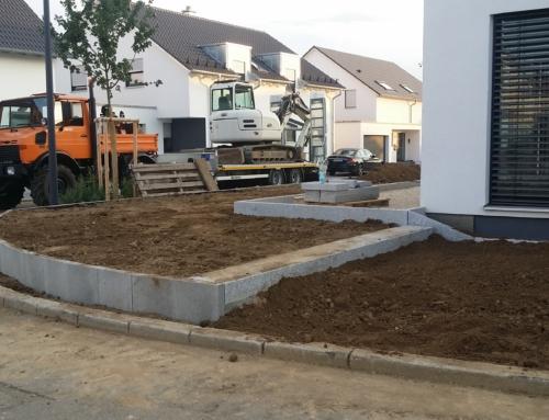 Rand- & L-Steine, Blockstufen und Terrassenbereich