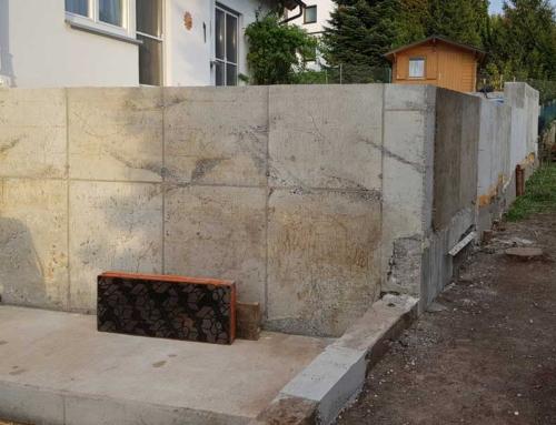 Garten, Stützmauer, Terrasse, Hof