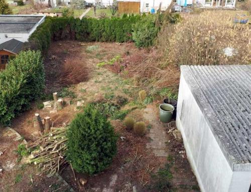 Garten säubern & einebnen